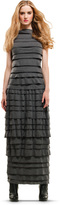 Max Studio Tiered & Ruffled Doubleknit Maxi Dress