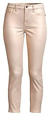 7 For All Mankind Jen7 by Women's Metallic Coated Ankle Skinny Jeans