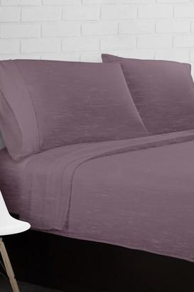 Ella Jayne Home Purple Heather Jersey Knit 4-Piece Full Sheet Set