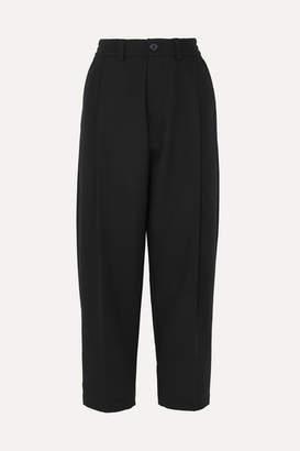 McQ Pleated Wool Straight-leg Pants - Black