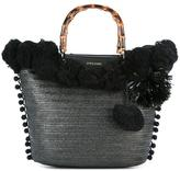 Twin-Set pompom tote - women - Polyester/Polyurethane - One Size