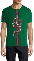 Gucci Snake Graphic Print Cotton T-Shirt