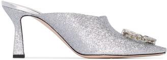 Wandler Lotte crystal-embellished mules