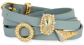 Alexis Bittar Multi-Wrap Leather Charm Bracelet