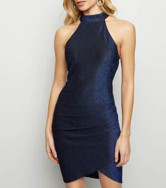 New Look AX Paris Glitter High Neck Dress