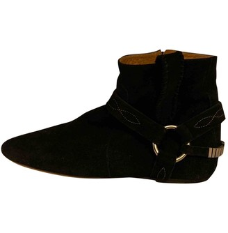 Isabel Marant Gaucho Black Suede Ankle boots