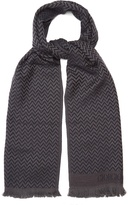 Giorgio Armani Zigzag-intarsia wool scarf