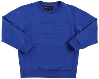 Emporio Armani Embossed Logo Cotton Sweatshirt