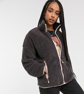 Monki fleece jacket in grey