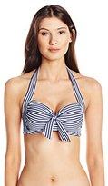 Seafolly Women's Riviera Stripe Soft-Cup Halter Bikini Top