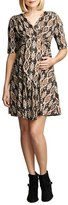 Maternal America Women's Print Tie Front Maternity Dress