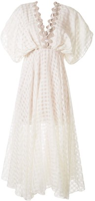 Leal Daccarett Crochet-Trimmed Gingham Dress