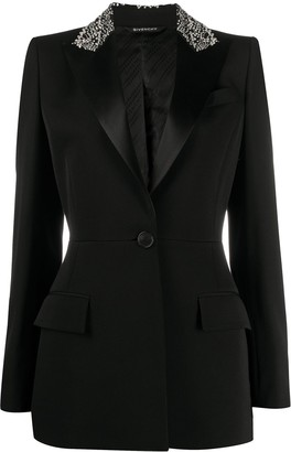 Givenchy Embroidered Collar Blazer