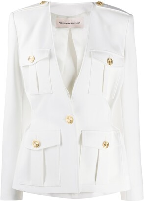 Alexandre Vauthier Multi-Pocket Fitted Jacket