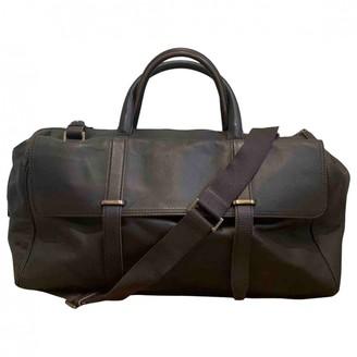 Ermenegildo Zegna Brown Leather Bags