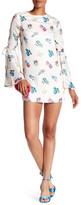 Endless Rose Penelia Floral Print Bell Sleeve Mini Dress