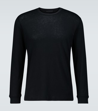 Wardrobe NYC Long-sleeved cotton T-shirt