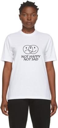 Vetements White Not Happy Not Sad T-Shirt