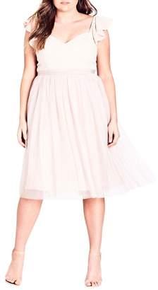 City Chic Tender Kiss Beaded Bodice Dress (Plus Size)