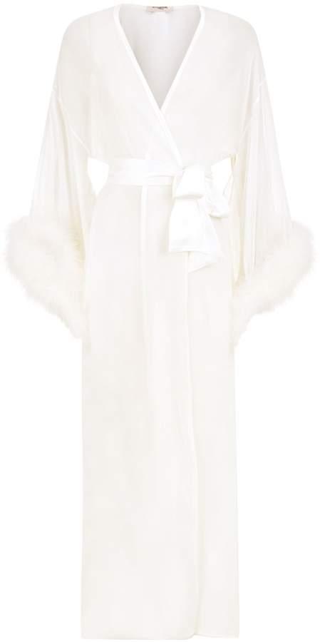 58eb013b046f Ivory Lace Silk Slip - ShopStyle UK