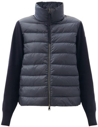 Moncler Down-padded Virgin-wool And Shell Jacket - Navy