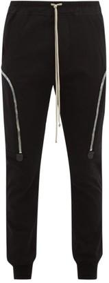 Rick Owens Zip-pocket Cotton Track Pants - Mens - Black