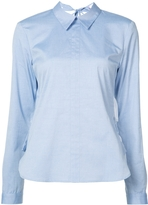 Sandy Liang Long Sleeve Fawn Button Down with Open Back