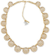 lonna & lilly Gold-Tone Imitation Pearl Dome Collar Necklace
