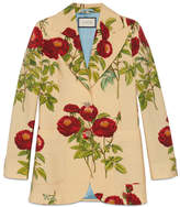 Gucci Velvet Rose print jacket