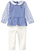 Ralph Lauren Girl Striped Top & Denim Legging