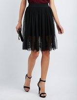Charlotte Russe Tulle & Lace Midi Skirt