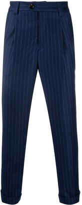 Brunello Cucinelli Pinstripe Double-Pleat Trousers
