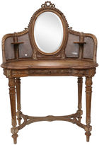 One Kings Lane Vintage Antique Country French Caned Vanity