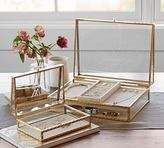 Pottery Barn Antique Gold Jewelry Boxes