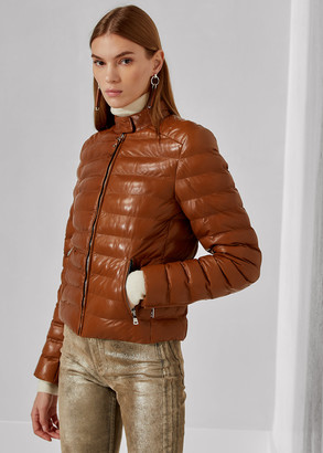 Ralph Lauren Freja Quilted Leather Jacket