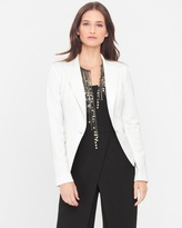 White House Black Market Single-Button Tuxedo Jacket