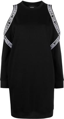 Karl Lagerfeld Paris Cold Shoulder Sweatshirt Dress