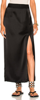 Baja East Satin Back Crepe Skirt in Black.