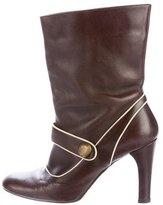 Marni Leather Round-Toe Boots