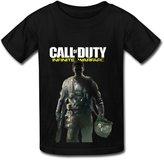 SKTVI 6-16 Years Old Call Of Duty Infinite Warfare Poster Design Kids T-Shirts For Boys' Girls' Black