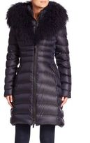 Dawn Levy Camille Mongolian Sheep Fur Trim Down Puffer Coat
