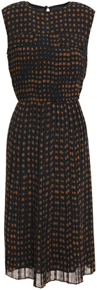 Paul Smith Pleated Printed Crepe Midi Dress