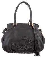 Etro Embossed Accented Leather Tote