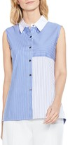 Vince Camuto Color Block Pinstripe Top