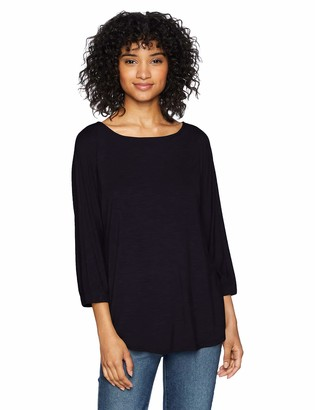 Daily Ritual Women's Jersey Ovesized-Fit Bunch-Sleeve Top