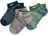 Nike 3-pk. Graphics Low Cut Socks - Boys