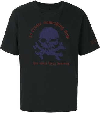Unravel Project skull writing print T-shirt
