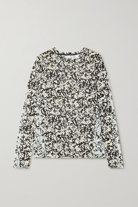 Proenza Schouler Floral-print Cotton-jersey Top - Black