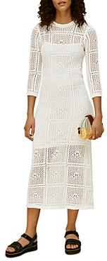 Whistles Crocheted Midi Dress