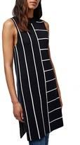 Topshop Women's Stripe Split Hem Tunic